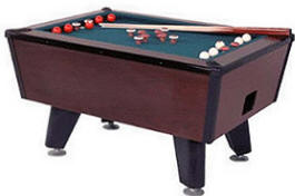 Tiger Cat Bumper Pool Table - Non Coin Model From Valley Dyanmo
