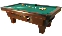 Top Cat Pool Table -  Coin Operated From Valley Dynamo