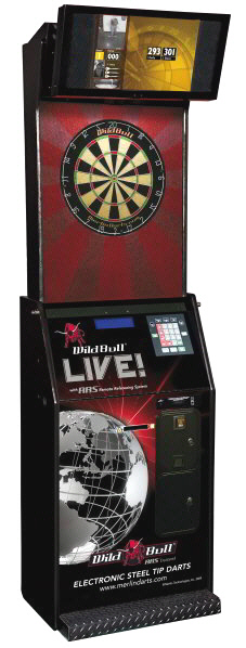 Wild Bull LIVE Online Steel Tip / Bristle Electronic Tournament / League Dartboard Machine From Merlin Technologies