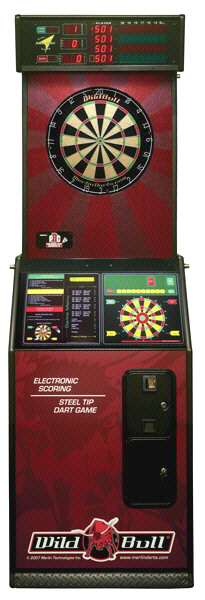 Wild Bull Steel Tip Bristle Electronic Dartboard From Merlin Technologies