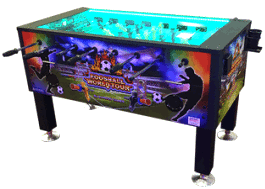 World Tour Foosball - Coin Operated Foosball Table From Barron Games