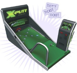 X-Putt Golf Putting Machine / Ticket Redemption Arcade Game