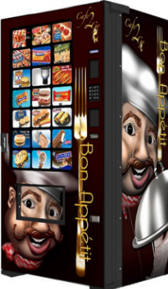 Cafe2Go / Cafe-2Go Combo Frozen Food and Ice Cream Vending Machine From Fastcorp LLC