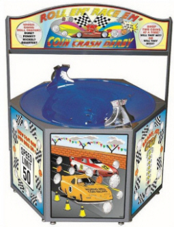 Coin Crash Derby - Coin Well / Funnel / Wishing Well Fundraising Machine From Impulse Industries