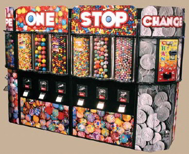 Fun Shoppe Double Kiosk Bulk Vending Center From OK Manufacturing