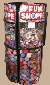 Fun Shoppe Round Kiosk Bulk Vending Center From OK Manufacturing