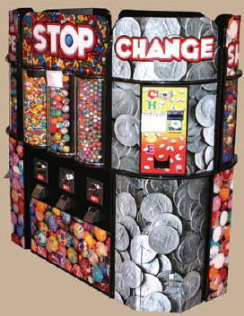 Fun Shoppe Small Kiosk Bulk Vending Center From OK Manufacturing