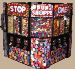 Fun Shoppe Square Kiosk Bulk Vending Center