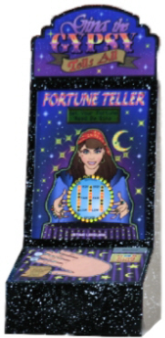 Gypsy The Gypsy Fortune Teller - Metal Vending Machine From Impulse Industries