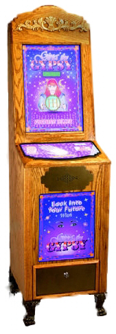 Gypsy The Gypsy Fortune Teller - Oak Vending Machine From Impulse Industries