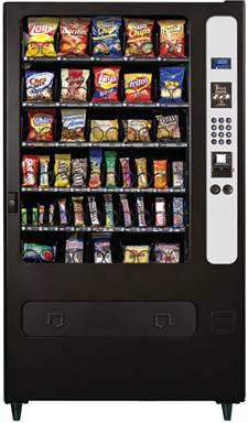 HR40 / HR-40 Snack Vending Machine By Perfect Break Systems / PBS / U Select It / USI From BMI Gaming