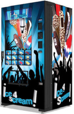 IScream4IC Concert Ice Cream Vending Machine | Evolution EVO FS01 Infevo Model From Fastcorp LLC