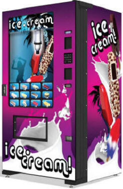 IScream4IC Wave Ice Cream Vending Machine | Evolution EVO FS01 Infevo Model From Fastcorp LLC