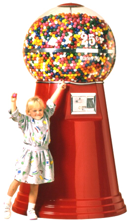 Jumbo Giant Gumball Machine From OK Manufacturing