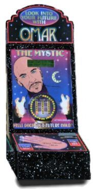 Omar The Mystic Fortune Teller - Metal Vending Machine From Impulse Industries