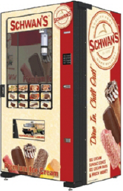 Schwans's Food Servce Combo Frozen Food and Ice Cream Vending Machine From Fastcorp LLC