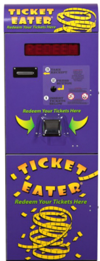 TT-2000 Standalone Upright Ticket Eater and Ticket Redemption Machine From Deltronic Labs