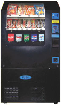 VC520 Combo Soda Machine and Electronic Snack Vending Machine From Seaga / Ventronics