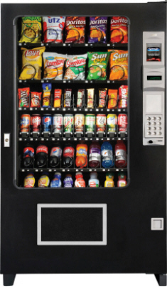 AMS Visi Combo Combination RFB Drink / Snack Vending Machine From Automated Merchandisers