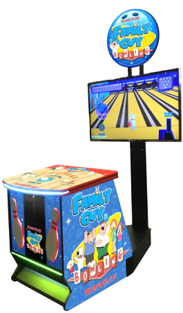 Family Guy Bowling Video Arcade Game Home Model From Team Play, Inc