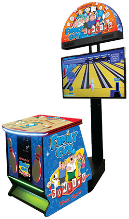 Family Guy Bowling Arcade Videmption Game From Team Play, Inc