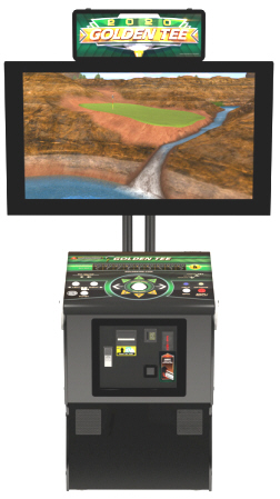 Golden Tee 2020 Home Edition Showpiece Pedestal Cabinet Model