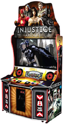 "Injustice Arcade Video Game 55"" Model From Raw Thrills"