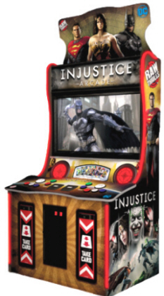 "Injustice Arcade Video Game 42"" Model From Raw Thrills"