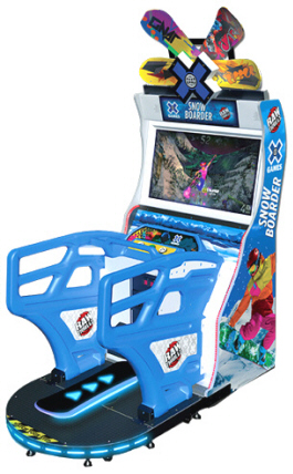X Games Snowboarder Video Arcade Game From Raw Thrills