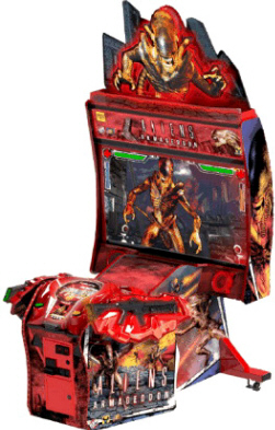 "Aliens Armageddon Arcade 55"" Deluxe Video Shooting Game - Raw Thrills"