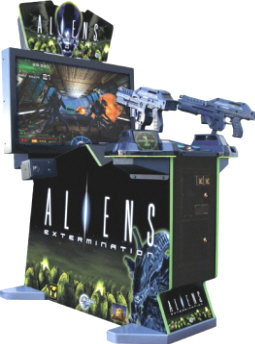 "Aliens Extermination Deluxe 42"" Model Video Arcade Game From Global VR"