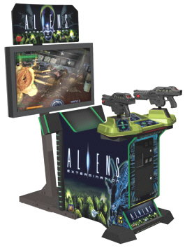 """Aliens Extermination Deluxe 50"""" Model Video Arcade Game From Global VR"""