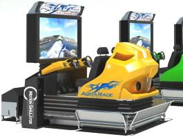 Aqua Race Extreme 4D / 5D Motion Simulator Speedboat Video Arcade Machine From Simuline