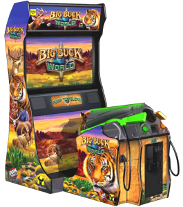 Big Buck World | Deluxe Model Video Arcade Hunting Game | With Big Buck Hunter Safari Outback From Raw Thrills / PlayMechanix