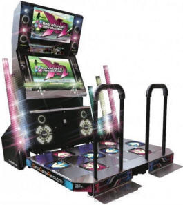 Dance Dance Revolution X2 / DDR X2 Video Arcade Dancing Machine Game From Konami