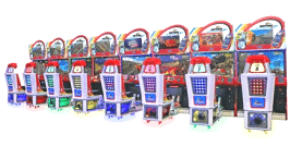 Daytona Championship USA 3 Racing Arcade Game - 8 Player Model From SEGA Amusements