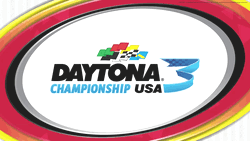 Daytona 3 Championship USA Racing Arcade Game Logo From SEGA-