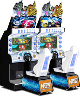 Dead Heat Street Racing NOS Video Arcade Game From Namco