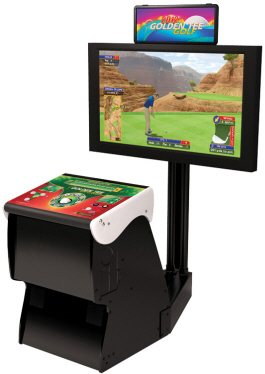 Golden Tee Golf 2014 Home Edition - Pedestal Model Video Arcade Game From Incredible Technologies