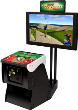 Golden Tee Golf 2014 Pedestal Cabinet From ITS