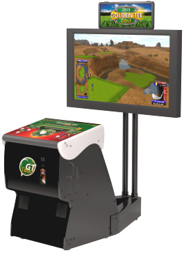 Golden Tee Golf 2015 Home Online Model Showpiece Cabinet