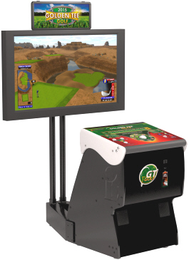 Golden Tee Golf 2015 Coin Offline Model Showpiece Cabinet