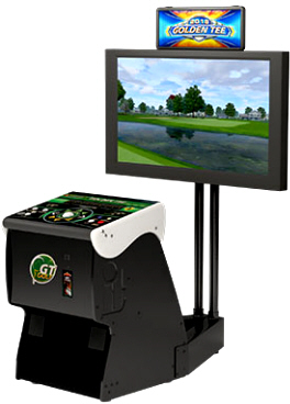 Golden Tee 2018 Home Edition Showpiece Pedestal Cabinet Model