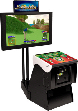 Golden Tee Golf Unplugged 2011 Factory Showpiece Pedestal Cabinet From Incredible Technologies / IT / ITS