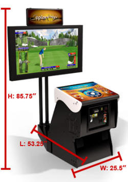 Golden Tee Golf LIVE 2011 Factory Pedestal Model Video Golf Game Dimensions