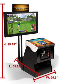 Golden Tee Golf LIVE 2011 Factory Pedestal Model Video Golf Game Dimensions