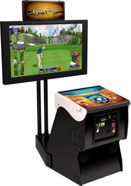 Golden Tee Golf LIVE 2011 Factory Pedestal Model Video Golf Game Marquee