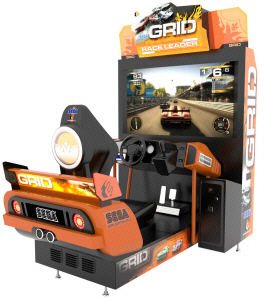 GRID Deluxe Race Leader Video Arcade Street Racing Game From SEGA