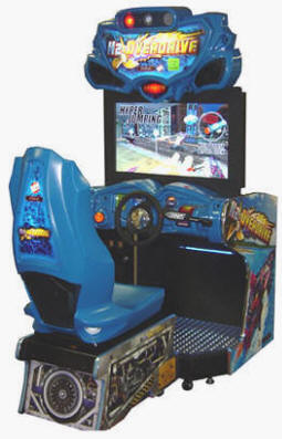 "H2Overdrive / H2 Overdrive 32"" Mini Cabinet Video Arcade Speed Boat Racing Game From Raw Thrills / Betson"