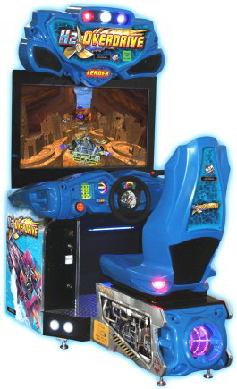 "H2Overdrive / H2 Overdrive 42"" Video Arcade Speed Boat Racing Game From Raw Thrills / Betson"